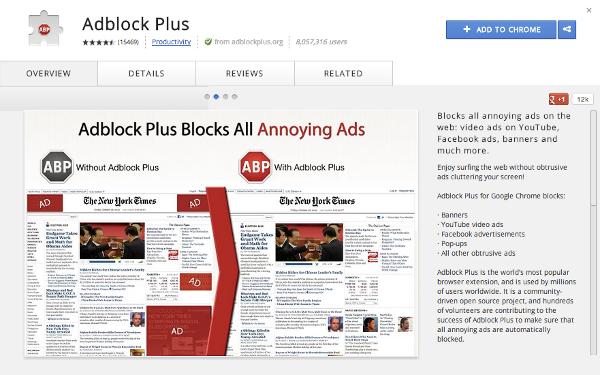 установить расширение adblock