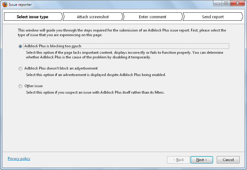 Adblock Plus for Internet Explorer 1.0