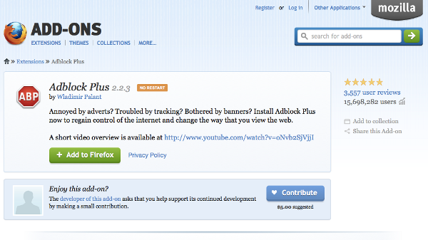 Adblock Plus for Internet Explorer full screenshot