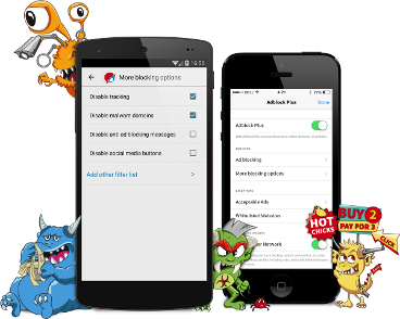 Adblock Plus for Android blocks all annoying ads on your tablet or smartphone! NO ROOT REQUIRED! It blocks intrusive ads from reaching your phone, including most in-app ads and those you would ...