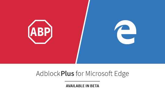 Comming soon image of Adblock Plus for Microsoft Edge